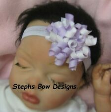 Easter Pastel Round Dainty Korker Hair Bow Soft Headband Fits Preemie to Toddler