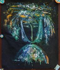 Figura con Pesci Pittura Batik arte astratta di buona qualità.