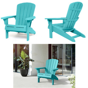 Adirondack Chair Resin Outdoor Patio Furniture Weatherproof Relax Pool Garden
