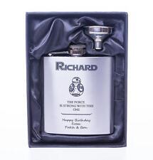 Personalised STAR WARS BB8 Hip Flask Gift For Dad/Daddy/Grandad/Birthday/Nephew