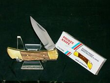 "Buck Style Lockback Knife 3"" Closed Pakistan Made Great Work knives W/Packaging"