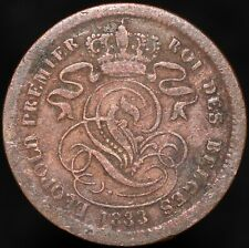 1833 | Belgium Leopold I 2 Centimes | Copper | Coins | KM Coins
