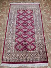 (35 x 63 in) Apple Red Handmade on Cotton foundation New Rug