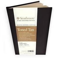 Strathmore 400 Series Toned Tan Sketchbook – Hardback Art Journal – 14 x 21.6cm