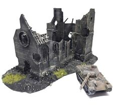 Eglise en ruine / destroyed church 15mm 1:100 Flames of War Blitzkrieg scenery