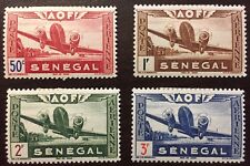1942 SENEGAL Airmail partial set MH