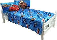 Disney Pixar Cars 4pc Full Microfiber Sheet Set Bedding - New
