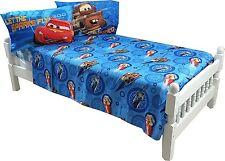 Disney Pixar Cars 4pc Full Microfiber Sheet Set Bedding - New
