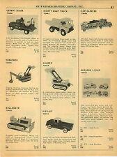 1964 PAPER AD Tonka Toy Truck Cement Mixer Mighty Dump Truck Pick Up Mattel