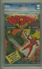 Wow Comics #3 (CGC 4.5) C-O/W pages; James Wilcox art; Fawcett; 1941 (c#23185)