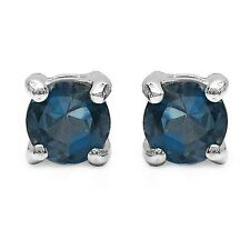 Ohrringe/Ohrstecker Ella, 925er Silber, 0,7 Kt. Londonblauer Topas, 4 mm ø rund