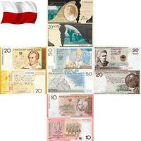 GBP POLAND 10 20 50 ZL 2006 2008 2009 2010 2011 2014 POLISH COLLECTOR BANKNOTE