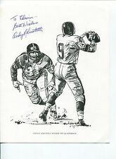 Andy Robustelli NY New York Giants LA Rams HOF Signed Autograph Photo
