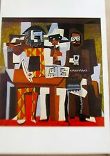Pablo Picasso Three Musicians in Cubist Form Poster Offset Lithograph Unsigned