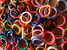 """50 Pack Spiral Chicken Poultry Leg Bands Rings - #11 11/16"""" size - Mixed Colors"""