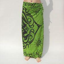NEW UNISEX MENS WOMENS GREEN CELTIC DESIGN SARONG BEACH POOL PAREO BNIP / sa044