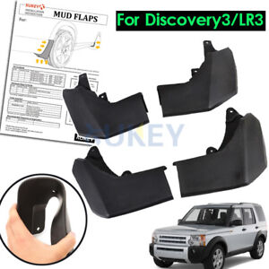 Set For Land Rover Discovery 3 04-08 Mud Flaps Splash Guards Mudguards Mudflaps