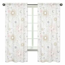 Pink Gold Moon Window Treatment Panels Curtains For Sweet Jojo Celestial Bedding