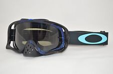 Maschera Oakley Crowbar Mx Distress Tagline Blu Dark Grey oo7025-41 Cross Enduro