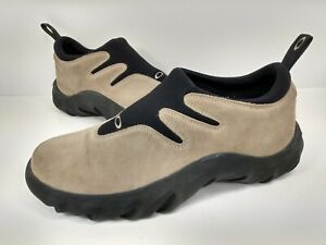 RARE Oakley Flesh Mens Slip On Shoes Hiking Walking Suede Loafer Vintage Size 12