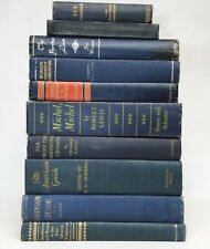 Lot 5 gorgeous NAVY DARK BLUE VINTAGE BOOKS rare old decorative ~ Ships FREE!
