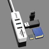 EG_ USB 2.0 Hub 3Ports Splitter 2 in 1 SD/TF Card Reader High Speed For Computer