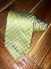 Ted Baker London 3.5W Silk Tie Green Made In USA