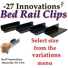4 CLIP Set Antique Flat Top Rail Iron Bed-Box Spring/Mattress Stabilizer KIT