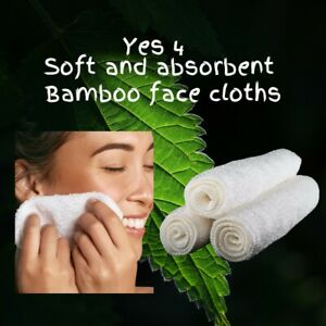 Bamboo Face cloths/towel.Soft antibacterial Eco friendly and Durable.4 in a box