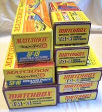 8x MATCHBOX Rennbahn Sets TA-3-5-6-7-8 SF16-19 NEU OVP MIB Sammler RAR CarRacing