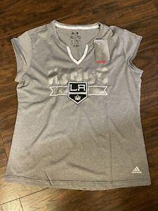 LA Kings Jersey Tee NHL Adidas Sz: XL Women's