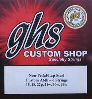 GHS - A6th - 6 Lap Steel Guitar Strings... 2 PACK