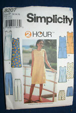 Simplicity Sewing Pattern Dress Top Shorts Pants #8207  Uncut  Size 12 14 16