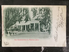 1901 java Netherlands Indies Postcard Cover to Vienna Austria