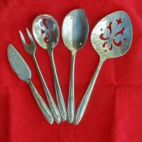 WH Rogers Vintage 5 Piece   Tea Party/Luncheon  Hostess Set Silverplate