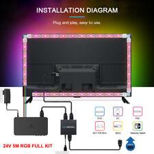 HDMI SYNC Box Kit 24V 5M RGB LED TV Hintergrund-Beleuchtung Farbwechsel+Netzeil