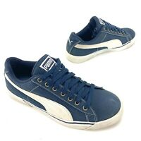 PUMA Benny Size 7 Mens Blue Canvas Sneaker Casual Lace Up Shoes