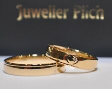 1 Pair Wedding Rings Gold 585 - With Heart & Zirconia
