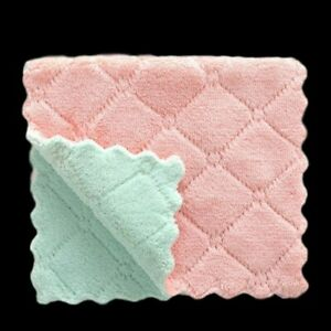 Super Absorbent Kitchen Towels Soft Microfiber Cleaning Cloth Non-stick Oil Dish