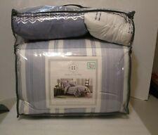 Modern. Southern. Home.™ ELLIE 8 Piece Comforter Set BLUE WHITE STRIPE $200 KING