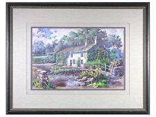 'Malham Village, Yorkshire Dales' - Signed Pastel Drawing, Framed, Original Art