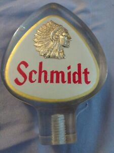 Schmidt Indian chief lucite beer tap 4 in rare Arrowhead shape