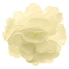 Pince à cheveux barrette broche bibi petite fleur satin ivoire mariage mariée