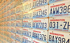 20 Embossed Washington State License Plates in Craft Condition