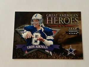 Troy Aikman 1998 Leaf Rookies & Stars Great American Heroes Insert /2500 Cowboys