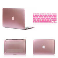 Rose Gold Metallic Hard Case + Keyboard Skin for Macbook Air Pro 11 12 13 15