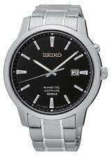 Relojes de pulsera Seiko de acero inoxidable plateado para hombre