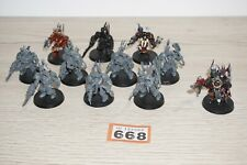 Warhammer 40k Chaos Space Marine Terminators x 10 & Terminator Lord LOT 668