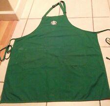 Official Starbucks Coffee Employee Apron Uniform Green Logo Tie