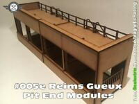 Scalextric Slot car Pit Buildings - Reims Gueux Pit End Modules, Magnetic 1:32